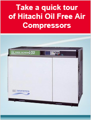 Quick Tour of Hitachi Oil Free Air Compressors