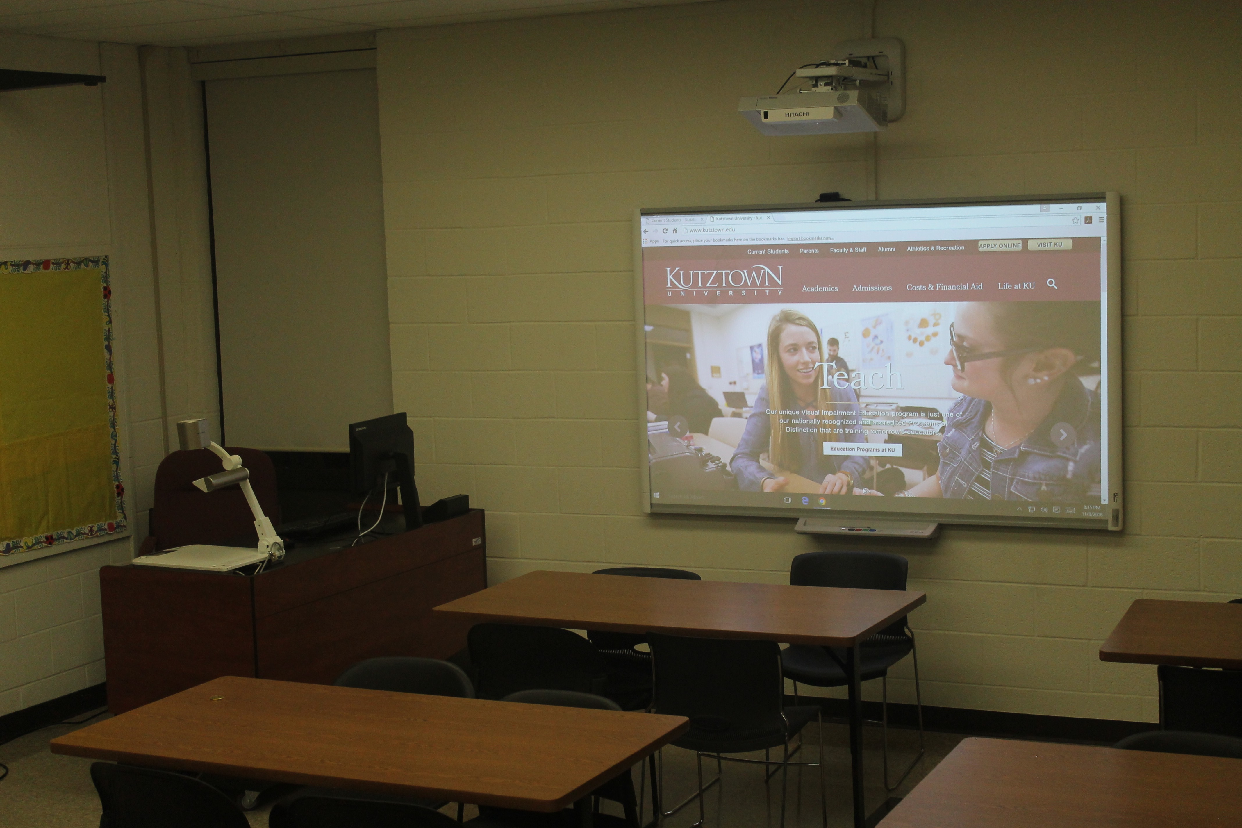 Kutztown University Uses Hitachi OneVision Rewards Program to Extend Projector Life and Save on Replacements