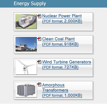 Energy Supply - Hitachi Environmental Technology Exhibit