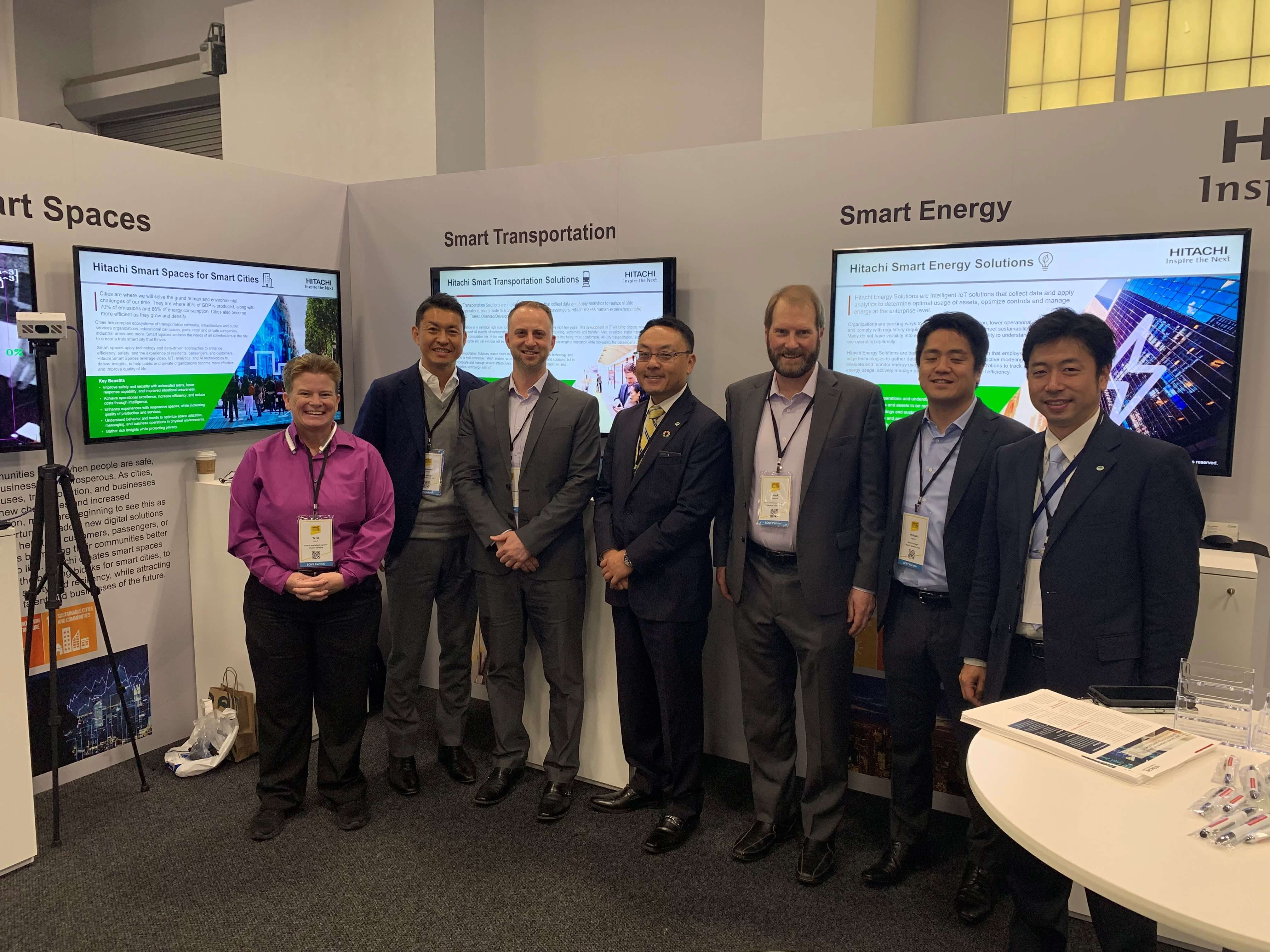 Hitachi Smart City solutions exhibit at Smart Cities New York 2019