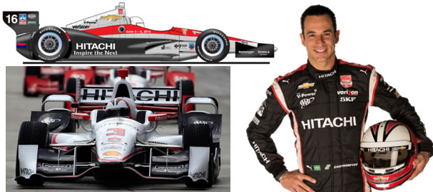 "<img alt=""Chevrolet Detroit Belle Isle Grand Prix show car, (bottom) No. 3 Hitachi Team Penske Dallara/Chevrolet and three-time Indianapolis 500 champion, Helio Castroneves"" src=""images/12072015.jpg"">"