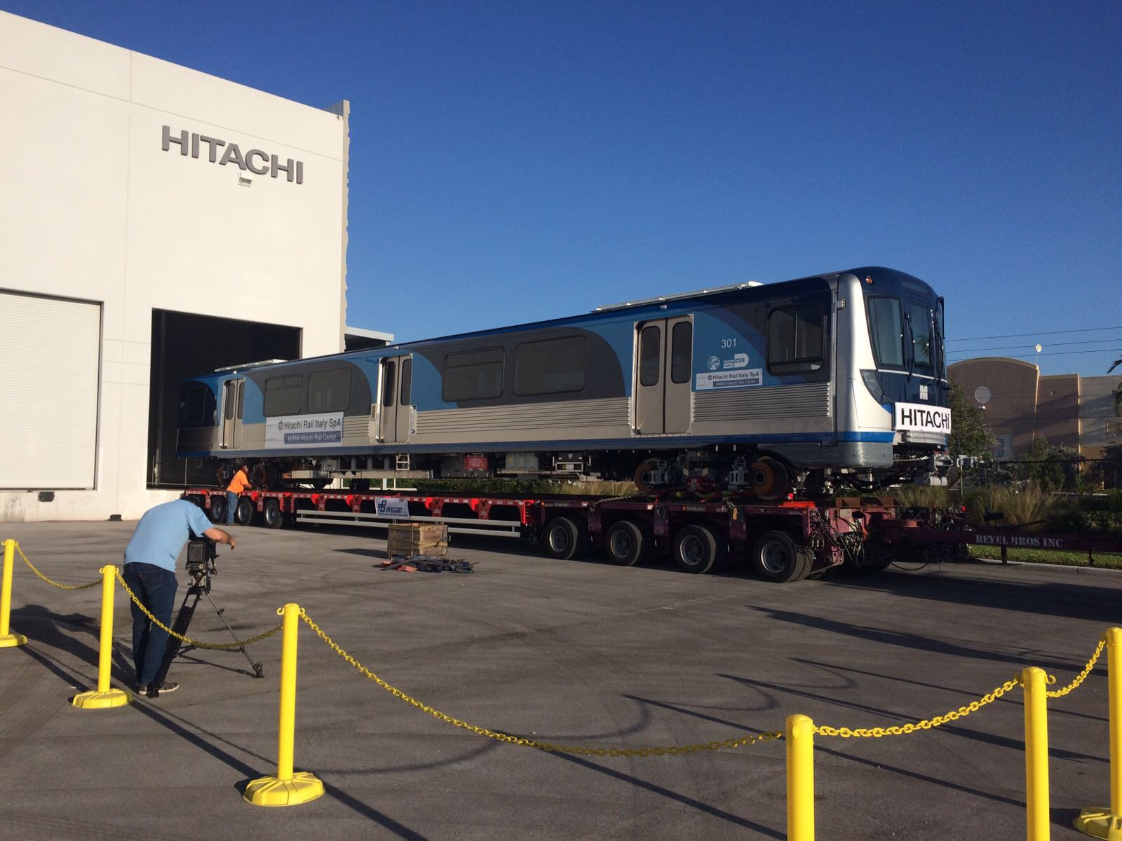Hitachi Rail Italy delivers First Train to Miami Dade County