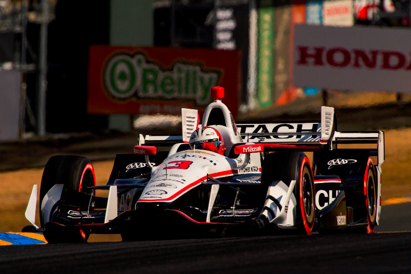 Castroneves in the Sonoma Race (final race) on September 17
