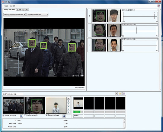 Face Matching Live Surveillance Camera